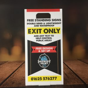 free standing tabletop signs
